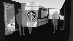 松屋銀座店で開かれる「スターバックス20周年アニバーサリー・アト・松屋銀座(Starbucks 20th Anniversary at Matsuya Ginza)」のイメージ。