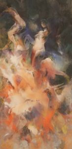林田画廊で16日まで開かれている稲田峻さんの作品。