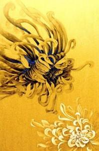 鳩居堂画廊で4月7日から12日まで開催される曽勤さんの個展「水墨と岩彩の世界」に展示される作品。